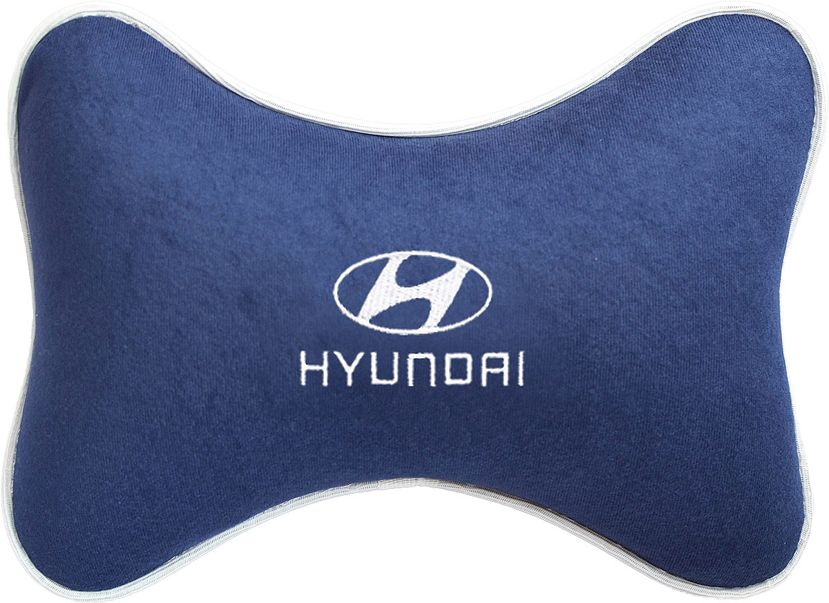 Подушка на подголовник Auto Premium Hyundai , цвет: синий. 37487Ветерок 2ГФПодушка на подголовник - это прежде всего лучший способ создать комфорт для шеи и головы во время пребывания в автомобильном кресле. Большинство штатных подголовников устроены так, что до них попросту не дотянуться. Данный аксессуар полностью решает эту проблему, создавая мягкую ортопедическою поддержку. Подушка крепится к сиденью, а это значит один раз поставил - и забыл.Меньше утомляемость - а следовательно выше внимание и концентрация на дороге.Одинакова удобна для пассажира и водителя.Подушка выполнена из велюра.