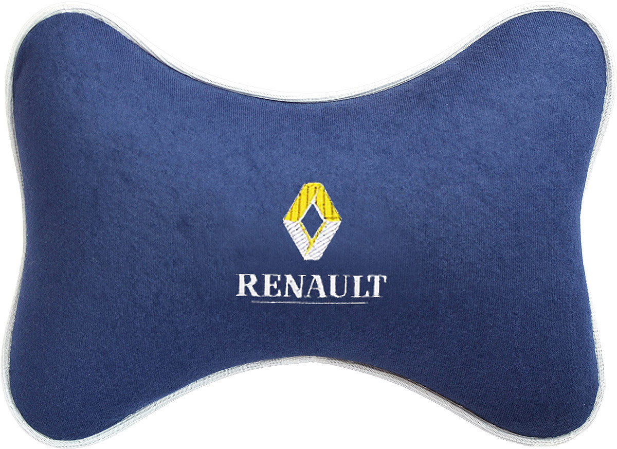 Подушка на подголовник Auto Premium Renault, цвет: синий. 3749037490Подушка на подголовник - это прежде всего лучший способ создать комфорт для шеи и головы во время пребывания в автомобильном кресле. Большинство штатных подголовников устроены так, что до них попросту не дотянуться. Данный аксессуар полностью решает эту проблему, создавая мягкую ортопедическою поддержку. Подушка крепится к сиденью, а это значит один раз поставил - и забыл.Меньше утомляемость - а следовательно выше внимание и концентрация на дороге.Одинакова удобна для пассажира и водителя.Подушка выполнена из велюра.