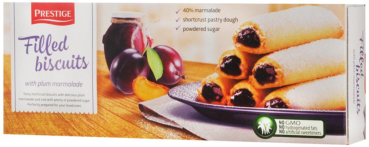 Prestige Бисквитное печенье со сливовой начинкой, 170 г0120710Бисквитное печенье Prestige со сливовой начинкой подарит массу удовольствия, зарядит энергией и бодростью с утра и на целый день.Противопоказано при индивидуальной непереносимости к яичному белку и белку молока.