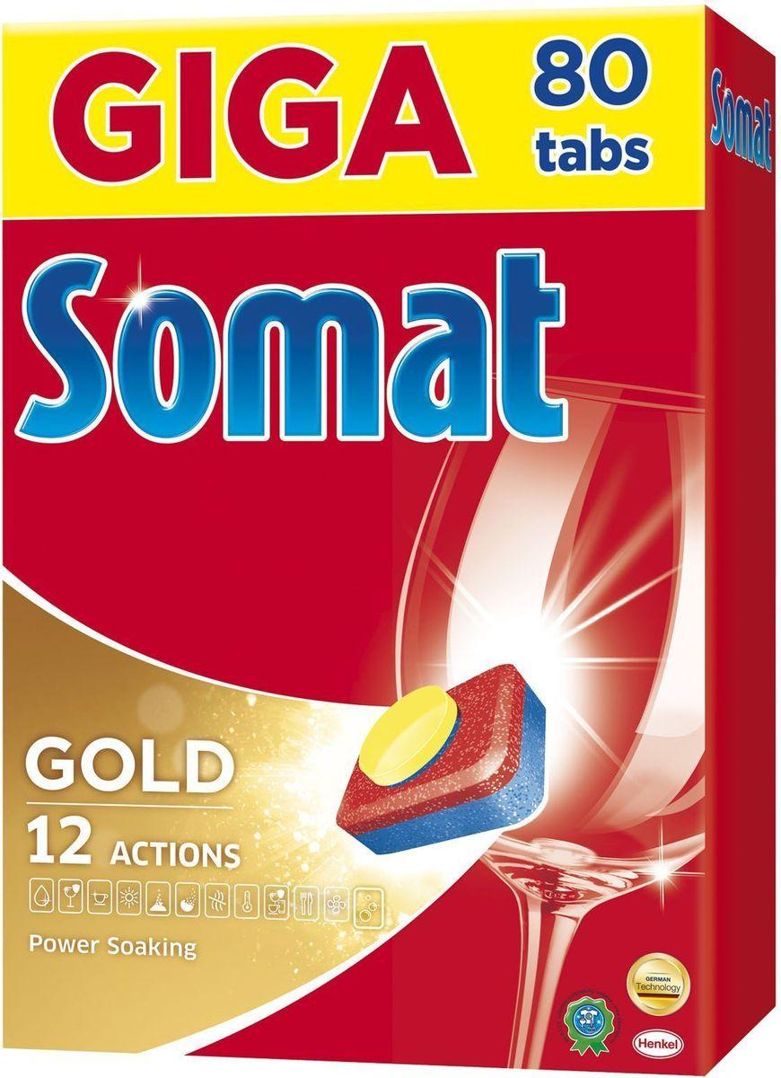 Cредство для посудомоечной машины Somat Gold, 80 шт.GC204/30Сомат Голд с миллионом активных частиц обеспечивает безупречный результат, легко справляясь с грязью и жиром и устраняя засохшие остатки пищи, как если бы вы предварительно замачивали и опласкивали посуду и включает следующие функции:Очиститель - для великолепной чистоты.Функция ополаскивателя - для сияющего блеска.Функция соли - для защиты посуды и стекла от известкового налета.Удаление пятен от чая.Защита посудомоечной машины против известковых отложений.Активная формула Эффект замачивания помогает устранить засохшие остатки пищи.Защита против коррозии стекла.Блеск нержавеющей стали и столовых приборов.Обеспечивает гигиеническую чистоту. Дозировка: 1 таблетка для любых видов загрязнений. Для очень жёсткой воды (>21 °dH) рекомендуется использовать 1 таблетку плюс Сомат соль и Сомат Ополаскиватель. Жесткость воды в вашем регионе можно узнать в службе Роспотребнадзора