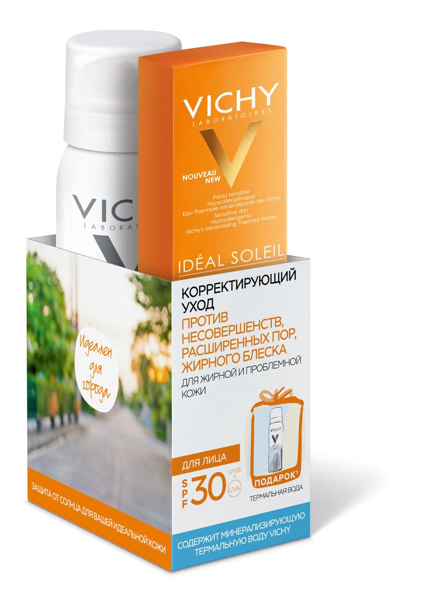 Vichy Крем против несовершенств Capital Ideal Soleil SPF30, 50мл + Термальная вода 50 мл в подарок vichy стик для чувствительных зон capital ideal soleil термальная вода 50 мл в подарок