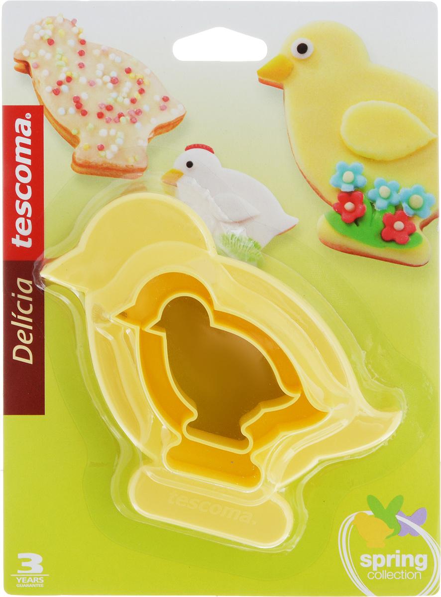 Формы Tescoma Delicia. Цыплята, двусторонние, 4 размера, 2 шт391602Двусторонние формы Tescoma Delicia. Цыплята выполнены из высококачественного пластика в виде забавных цыплят. В комплект входят две формы. Формы отлично подходят для приготовления печенья и имеют 4 разных размера. Можно мыть в посудомоечной машине. Размер форм: 12 х 11,5 см; 8,5 х 8 см; 7 х 7 см; 5 х 5 см.