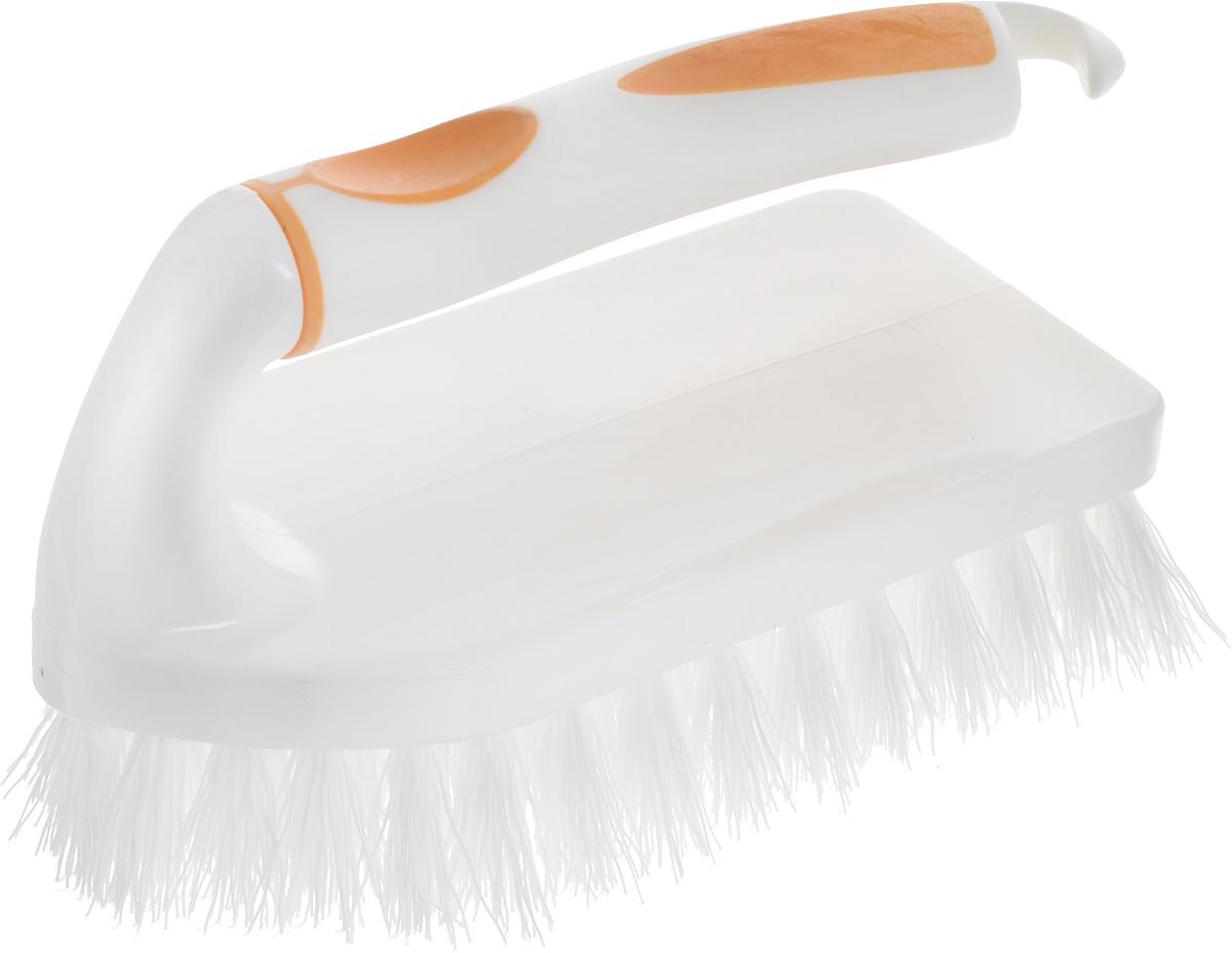 Щетка для одежды Svip Софтэль, цвет: белый, оранжевый, 14,5 х 6,5 х 8,5 см54 002814Щетка-утюжок Svip Софтэль изготовлена из высококачественного полипропилена и предназначена для удаления ворсинок, волос, пыли и шерсти животных с одежды. Щетка имеет удобную ручку с резиновой вставкой, предотвращающей выскальзывание из рук. На рукоятке расположен крючок для подвешивания.Щетина средней жесткости не повреждает поверхность.Длина щетины: 2,5 см, Размер щетки: 14,5 х 6,5 х 8,5 см.