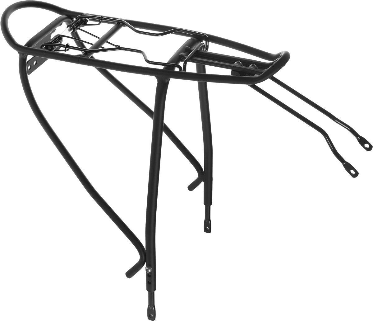 Багажник велосипедный Stern. CCAR-2NZ90 blackВелосипедный багажник Stern выполнен из высококачественного металла. Крепится изделие под седло. Предназначен багажник для моделей с размером колес 24-28. Подходит для перевозки грузов до 25 кг. В комплект входят крепления. Размер багажника: 39,5 х 22,5 х 41 см.