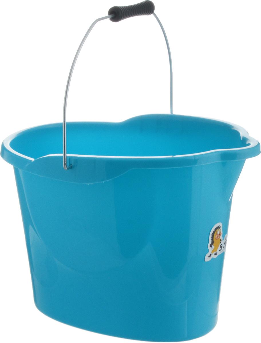 Ведро Svip Ориджинал, цвет: бирюзовый, 12 л98299571Ведро Svip Ориджинал предназначено для влажной уборки дома. Изделие изготовлено из прочного долговечного пластика. Удобная форма обеспечит комфорт применения. В верхней части ведра находится удобный выступ для выливания воды, а в основании - выемка для подхвата. Изделие оснащено металлической ручкой с удобной пластиковой рукояткой.Размер ведра (по верхнему краю): 38 х 26 см. Высота ведра: 28 см.