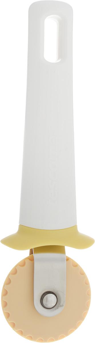 Нож для теста Tescoma Delicia, соединительный, длина 16,5 см630021Нож Tescoma Delicia выполнен из пластика и нержавеющей стали. Изделие прекрасно подходит для соединения двух слоев теста при его нарезании, для легкого приготовления пасты с начинкой типа равиоли, соленых и сладких вареников и палочек, овощных карманов. Можно мыть в посудомоечной машине. Длина ножа: 16,5 см. Диаметр лезвия: 4,5 см.