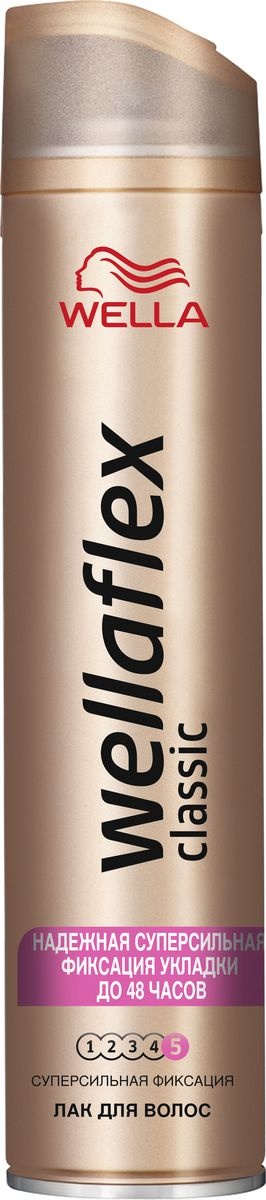 Wellaflex Лак для волос Classic суперсильной фиксации 400 мл2072914ЛАК ДЛЯ ВОЛОС WELLAFLEX СУПЕРСИЛЬНОЙ ФИКСАЦИИ с технологией Гибкой Фиксации TMЛак для волос Wellaflex суперсильной фиксации обеспечивает идеальную естественную укладку с улучшенной фиксацией, которая держится до 24 часов.Он быстро высыхает, не пересушивая волосы, легко удаляется при расчесывании и защищает волосы от воздействия солнечных лучей.