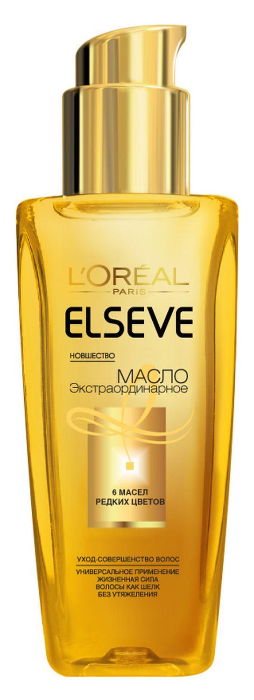 LOreal Paris Elseve Масло для волос Эльсев, Экстраординарное, для всех типов волос, 100 млAC-2233_серыйМасло для волос «Эльсев, Экстраординарное» — эффективное средство для ухода за окрашенными волосами. Его уникальная формула на основе шести эфирных масел превращает волосы в совершенную материю, при этом не утяжеляя их. Масло специально разработано для окрашенных и мелированных волос — оно интенсивно питает их, делает цвет ещё более насыщенным, дарит ослепительный блеск.