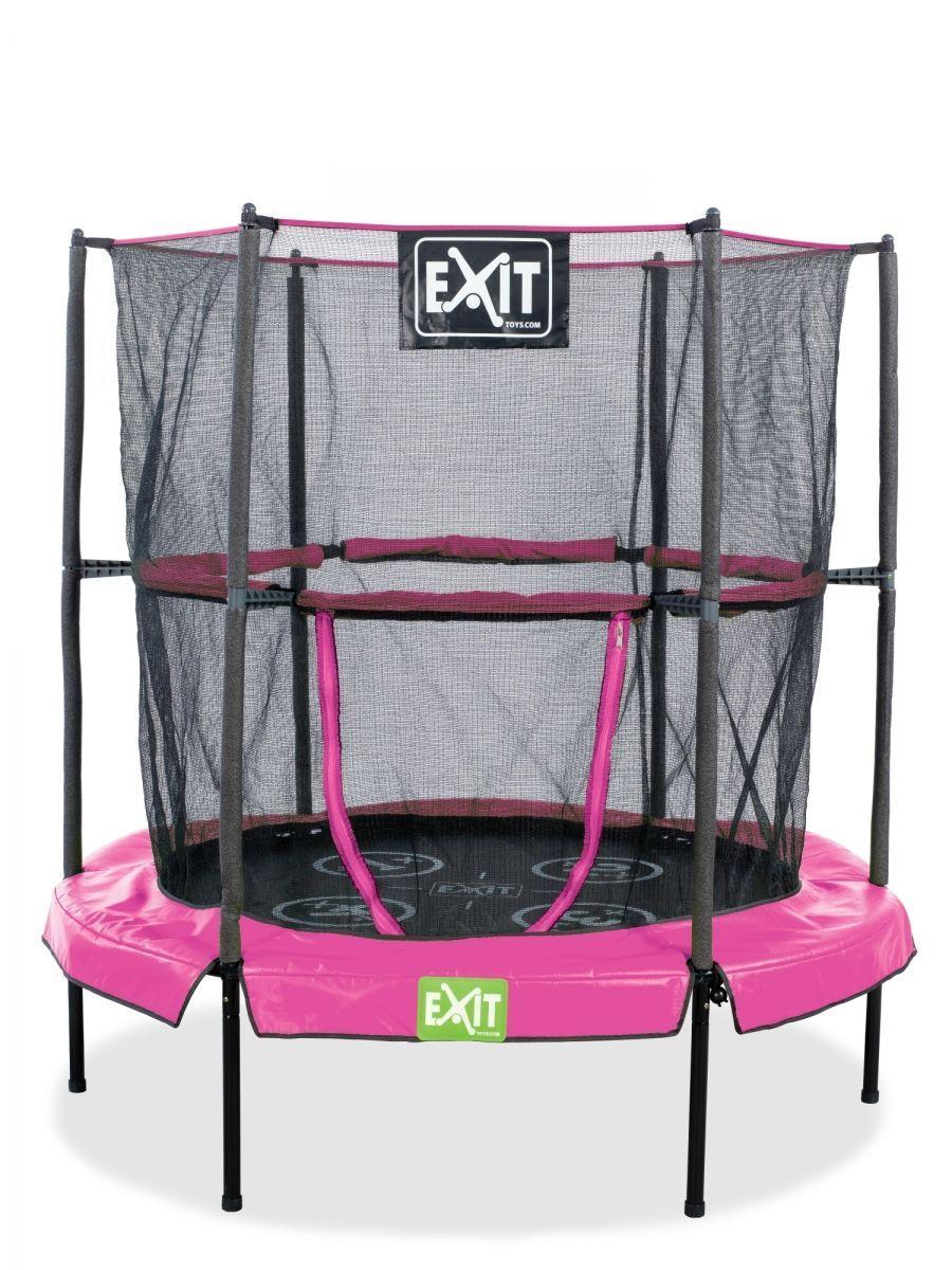 """Батут домашний """"EXIT Toys"""", цвет: розовый, черный, 140 см"""