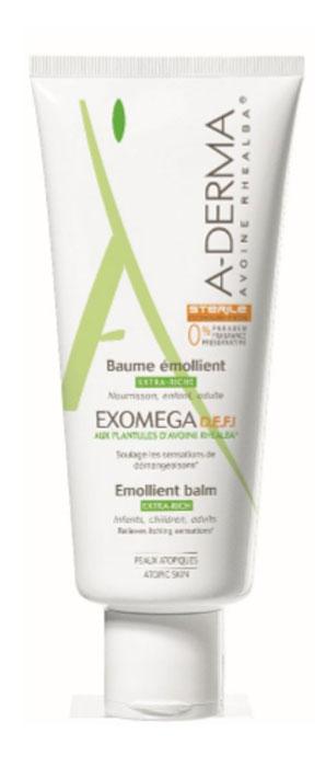 A-Derma Экзомега D.E.F.I. Смягчающий бальзам, 200 мл vichy ideal body питательный бальзам для тела 200 мл для сухой и очень сухой кожи