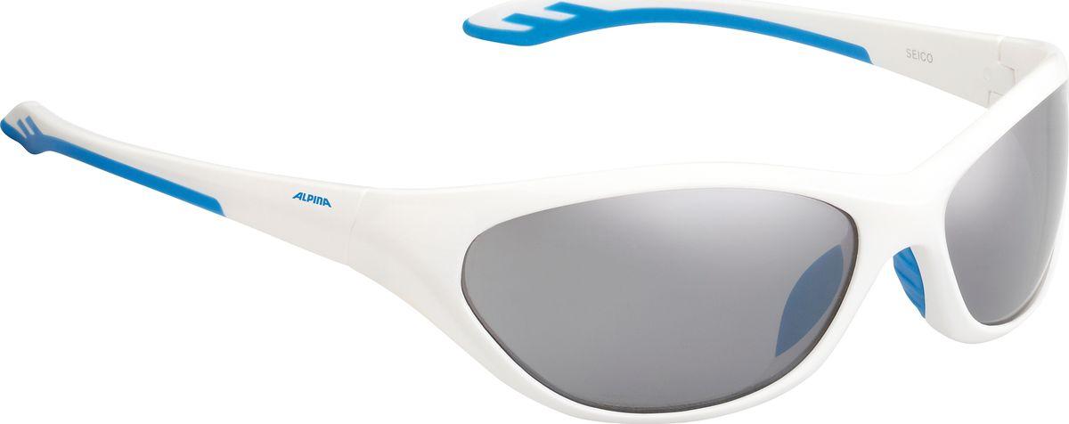 Очки солнцезащитные Alpina Seico, детские, цвет: белый. 84443128444312Детские солнцезащитные очки Alpina Seico предназначены как для езды на велосипеде, так и для многих других видов спорта.Прорезиненная гибкая перегородка для носа обеспечивает надежную фиксацию, а высококачественные линзы с ударопрочным керамическим покрытием защищают от ультрафиолетового излучения. Степень защиты: S3.