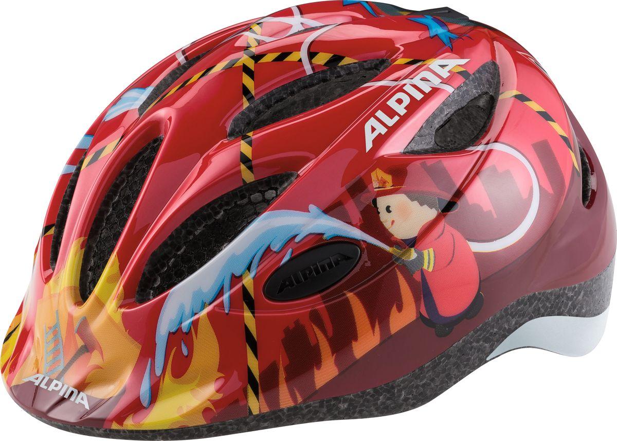 Шлем летний Alpina Gamma 2.0 red firefighter, цвет: красный.Размер 46-51ГризлиНаилучшая защита для маленьких велосипедистов - это шлем Alpina Gamma 2.0 red firefighter. Размер:46-51 см.