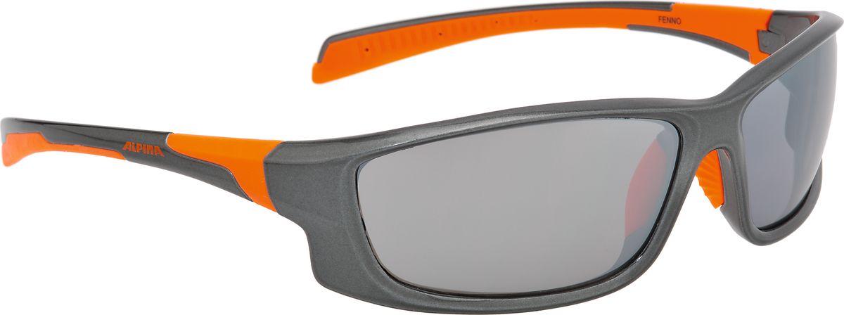 Очки солнцезащитные Alpina Fenno, цвет: серый, оранжевый. 8529325Z90 blackСолнцезащитные очкиAlpina Fenno предназначены как для езды на велосипеде, так и для многих других видов спорта. Поляризованные линзы обеспечивают хорошую защиту от яркого солнца, в отличие от обычных солнцезащитных очков. Прорезиненные дужки и инновационная форма оправы делает очки спортивными, стильными и универсальными.