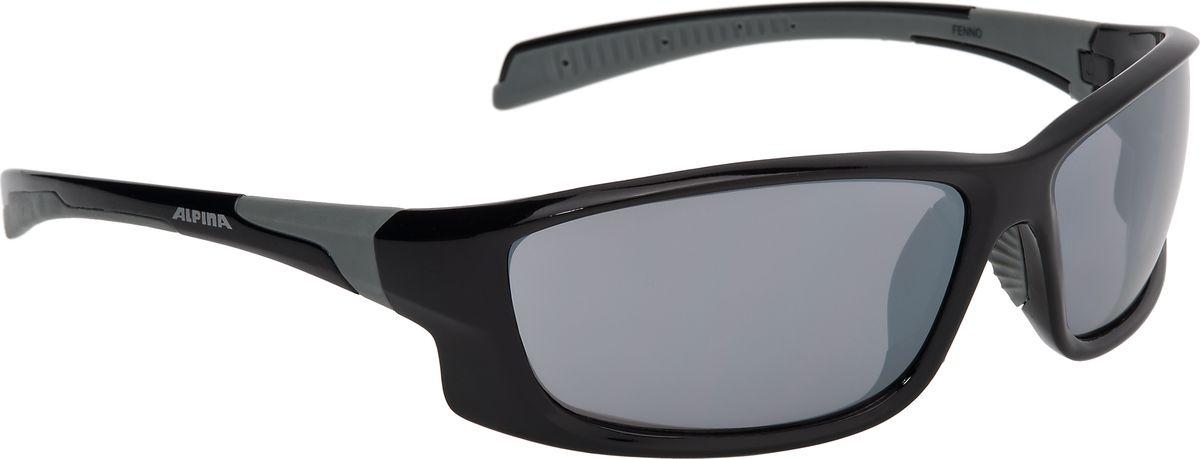 Очки солнцезащитные Alpina Fenno, цвет: черный, серый. 8529331ASS-02 S/MСолнцезащитные очкиAlpina Fenno предназначены как для езды на велосипеде, так и для многих других видов спорта. Поляризованные линзы обеспечивают хорошую защиту от яркого солнца, в отличие от обычных солнцезащитных очков. Прорезиненные дужки и инновационная форма оправы делает очки спортивными, стильными и универсальными.