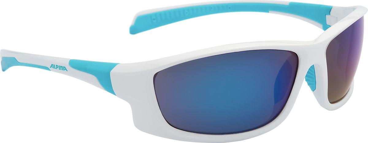 Очки солнцезащитные Alpina Fenno, цвет: белый, голубой. 8529310ГризлиСолнцезащитные очкиAlpina Fenno предназначены как для езды на велосипеде, так и для многих других видов спорта. Поляризованные линзы обеспечивают хорошую защиту от яркого солнца, в отличие от обычных солнцезащитных очков. Прорезиненные дужки и инновационная форма оправы делает очки спортивными, стильными и универсальными.