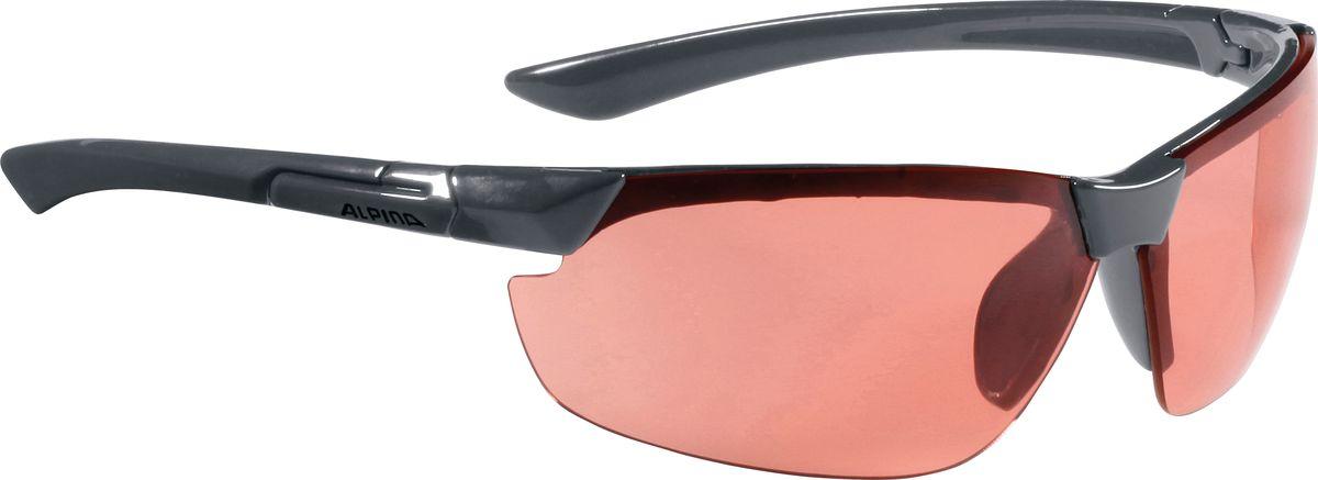 Очки солнцезащитные Alpina Draff, цвет: темно-серый. 85583258567531Солнцезащитные очки Alpina Draff предназначены как для езды на велосипеде, так и для многих других видов спорта.Большие изогнутые линзы-объективы высокого качества обеспечивают управление воздушными потоками, ветер не попадает в глаза во время гонок, а также предотвращают запотевание и защищают от ультрафиолетовых излучений.Степень защиты: S3.