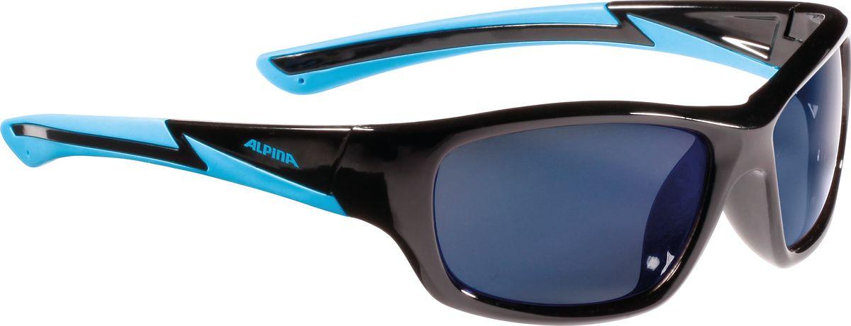 Очки солнцезащитные Alpina Flexxy Youth, детские, цвет: черный. 85643318564331Детские солнцезащитные очки Alpina Flexxy Youth с устойчивыми к разбиванию линзами выполнены из пластика и предназначены как для езды на велосипеде, так и для многих других видов спорта.Линзы обеспечивают управление воздушными потоками, ветер не попадает в глаза во время гонок, а также предотвращают запотевание и защищают от ультрафиолетовых излучений.