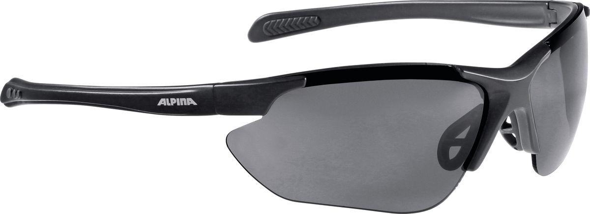 Очки солнцезащитные Alpina Jalix, цвет: черный. 85603318560331Солнцезащитные очки Alpina Jalix предназначены как для езды на велосипеде, так и для многих других видов спорта.Прорезиненная гибкая перегородка для носа и силиконовые наконечники на душках обеспечивают надежную фиксацию, а высококачественные керамические линзы обеспечивают защиту от ультрафиолетового излучения. Степень защиты: S3.