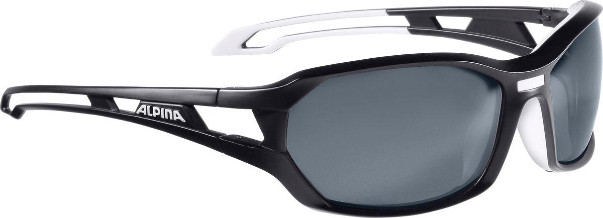 Очки солнцезащитные Alpina Berryn P, цвет: белый, черный. 85675318567531Солнцезащитные очкиAlpina Berryn P предназначены как для езды на велосипеде, так и для многих других видов спорта. Поляризованные линзы обеспечивают хорошую защиту от яркого солнца, в отличие от обычных солнцезащитных очков. Прорезиненные дужки и инновационная форма оправы делает очки спортивными, стильными и универсальными.