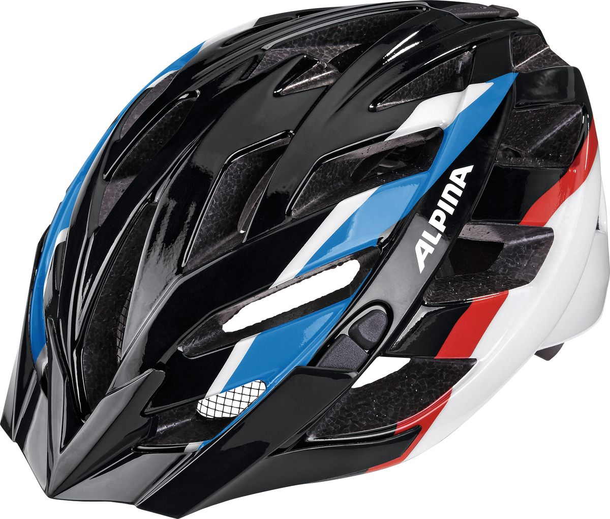 Шлем летний Alpina Panoma, цвет: черный, синий, красный. Размер 56-59SСJ-2201Шлем летний Alpina Panoma - это классический универсальный велосипедный шлем с превосходной посадкой. Panoma - верный компаньон в ежедневных поездках до работы и выездов по выходным. 23 вентиляционных отверстия.Безопасность:Оболочка Inmold Производственный процесс заключается в нагревании до высокой температуры внешней поликарбонатной оболочки и запекании ее на EPS-тело шлема под высоким давлением. Этот процесс создает неразрывную связь по всей поверхности между внутренней и внешней оболочками, благодаря этому шлем получается не только очень легким, но и чрезвычайно стабильным.Hi-EPS Внутренняя оболочка выполнена из Hi-EPS (вспененный полистирол). Этот материал состоит из множества микроскопических воздушных камер, которые эффективно поглощают силу удара. Hi-EPS обеспечивает оптимальную защиту в сочетании с экстратонкими стенками.Ceramic Материал объединяет несколько преимуществ: устойчив к ударам и царапинам, содержит ультрафиолетовые стабилизаторы и антистатичен.Эргономика: Run System Classic Если вы используете свой велосипед для того, чтобы съездить по магазинам, вам не нужна сложная система регулировки. Система подгонки Run System Classic отвечает этим требованиям красивым, простым и надежным колесом регулировки. Система Run System Classic проста в использовании и держит шлем надежно, там где он должен быть - на голове.Y-Clip Шлем может обеспечить правильную защиту, только если он остается на месте в случае удара. Крепление, которое соединяет две полоски под ухом имеет решающее значение в этом случае. Система Y-Clip Alpina гарантирует идеальную подгонку до последнего миллиметра за считанные секунды.Ergomatic Проверенная бесчисленное количество раз, эта пряжка используется во всех шлемах Alpina. Из особенностей: красная кнопка приводящая в действие механизм автоматической многоступенчатой регулировки. Пряжку можно расстегнуть или застегнуть одной рукой, так, например, вы можете ослабить
