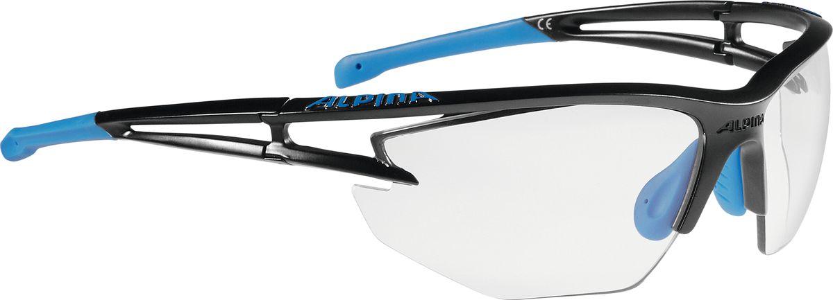 Очки солнцезащитные Alpina Eye-5 Hr Vl+, цвет: синий, черный. A8531135RivaCase 8460 blackСолнцезащитные очки Alpina Eye-5 Hr Vl+, выполненные из пластика, предназначены как для езды на велосипеде, так и для многих других видов спорта. Большие изогнутые линзы-объективы высокого качества обеспечивают управление воздушными потоками, ветер не попадает в глаза во время гонок, а также предотвращают запотевание и защищают от ультрафиолетовых излучений.Технология Cold Flex не позволяет деформироваться при холодной температуре.