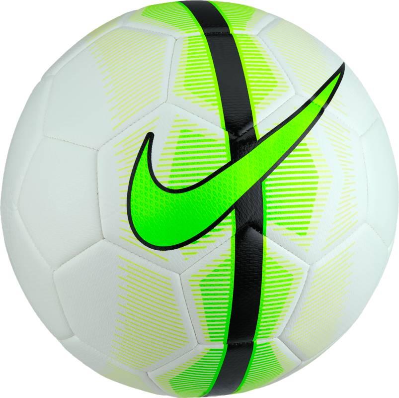 Мяч футбольный Nike Mercurial Veer Football, цвет: белый, зеленый, черный. Размер 5200170Мяч Nike Mercurial Veer. Прочная упругая конструкция обеспечивает точную траекторию полета мяча. Дизайн из 32 панелей гарантирует долговечность. Машинная строчка из материала TPU для стабильной игры. Усиленная бутиловая камера повышает скорость полета мяча и отлично сохраняет форму.