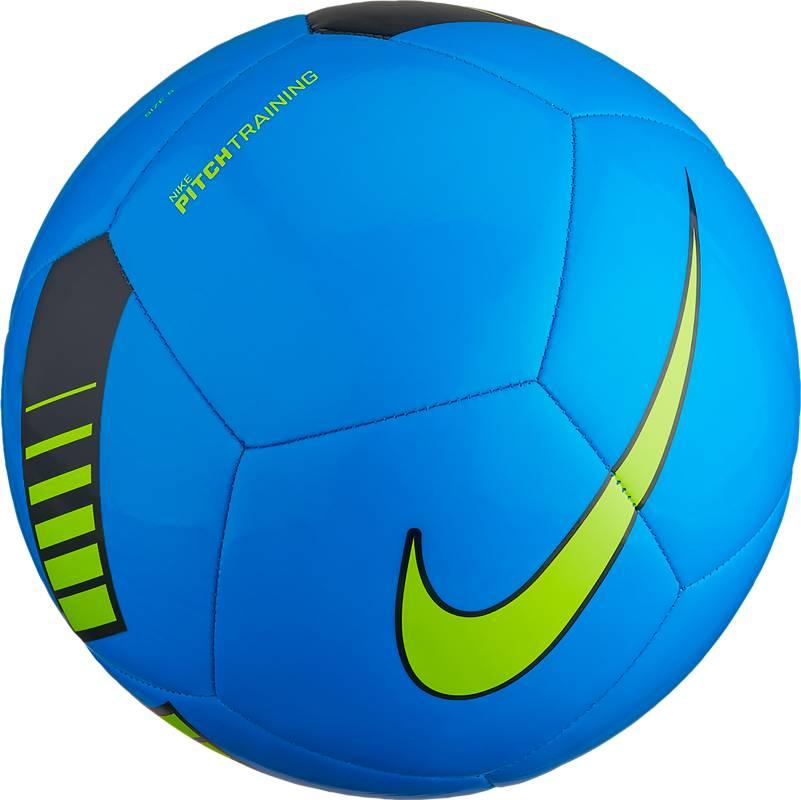Мяч футбольный Nike Pitch Training Football, цвет: синий, салатовый. Размер 5SC3101-406Мяч Nike Pitch Training из прочной резины. Машинная строчка на покрышке из материала TPU обеспечивает точную траекторию полета. Усиленная резиновая камера оптимизирует сохранение формы.