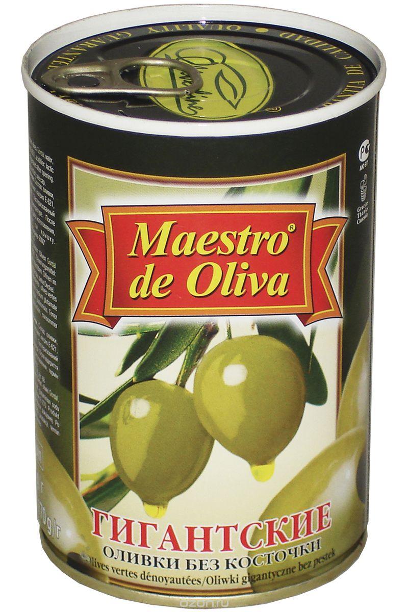 Maestro de Oliva оливки гигантские без косточки, 420 г maestro grand