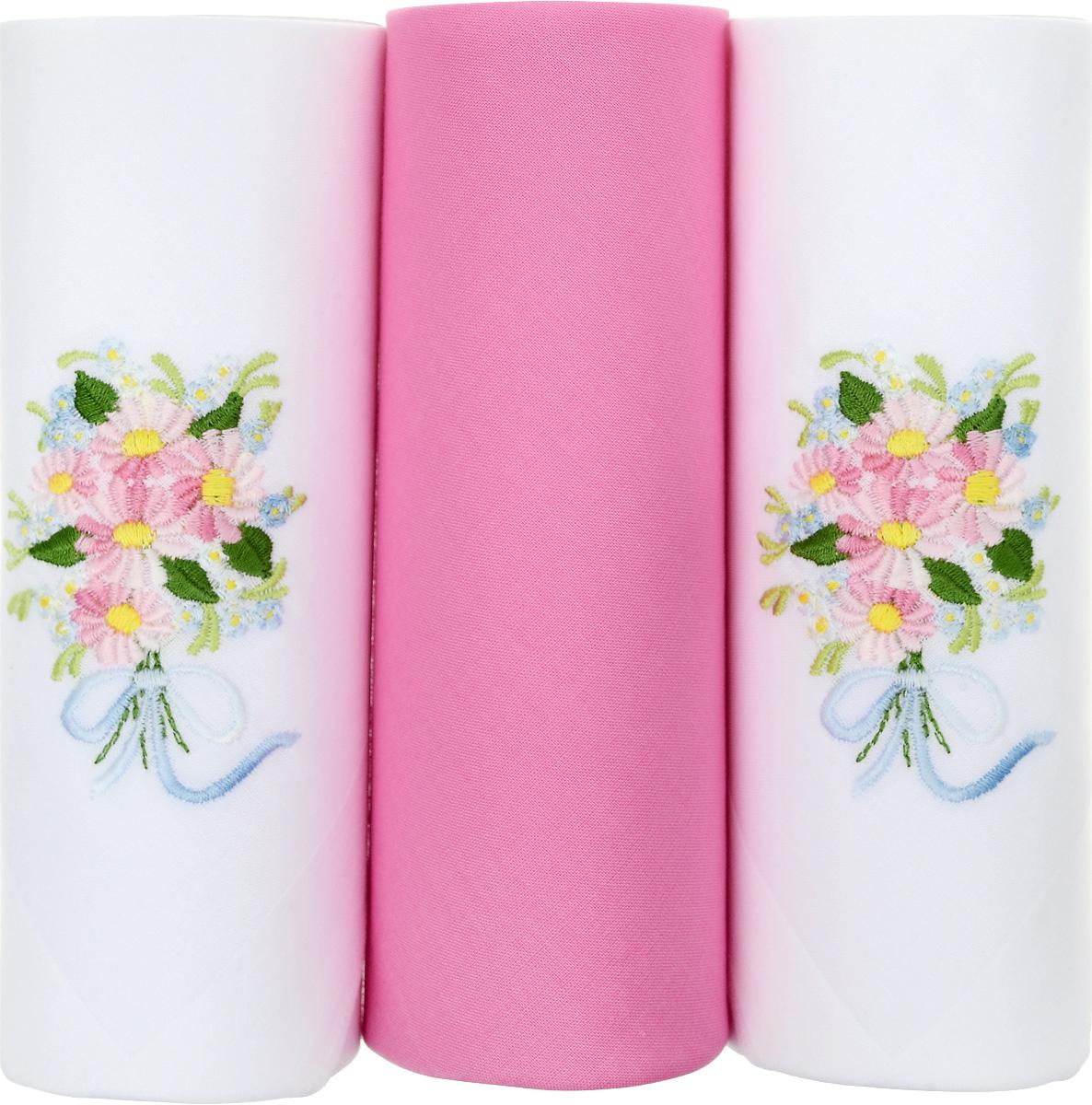 Платок носовой женский Zlata Korunka, цвет: белый, розовый, 3 шт. 25605-14. Размер 30 см х 30 см39864|Серьги с подвескамиНебольшой женский носовой платок Zlata Korunka изготовлен из высококачественного натурального хлопка, благодаря чему приятен в использовании, хорошо стирается, не садится и отлично впитывает влагу. Практичный и изящный носовой платок будет незаменим в повседневной жизни любого современного человека. Такой платок послужит стильным аксессуаром и подчеркнет ваше превосходное чувство вкуса.В комплекте 3 платка.