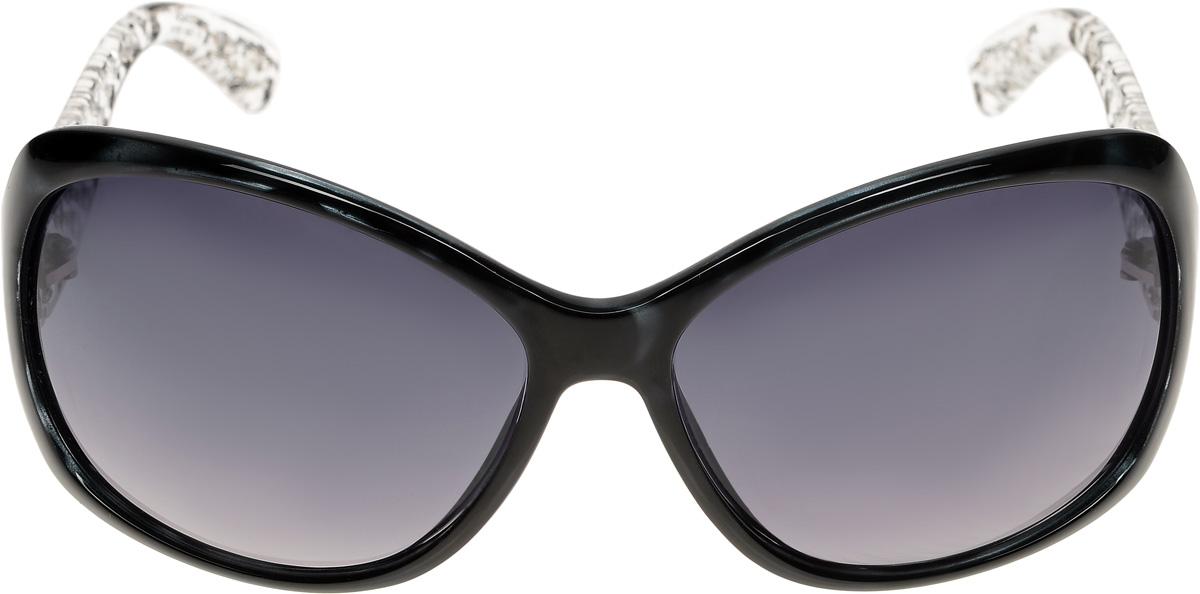 Очки солнцезащитные женские Vittorio Richi, цвет: черный. ОС4059c107-637-5/17fINT-06501Очки солнцезащитные Vittorio Richi это знаменитое итальянское качество и традиционно изысканный дизайн.