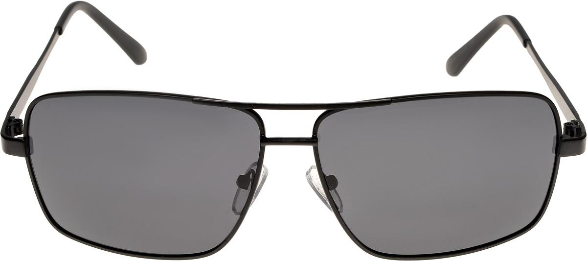 Очки солнцезащитные мужские Vittorio Richi, цвет: черный. ОСA12/17fBM8434-58AEОчки солнцезащитные Vittorio Richi это знаменитое итальянское качество и традиционно изысканный дизайн.