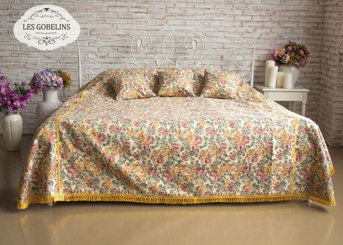 Покрывало на кровать Les Gobelins Arrangement De Fleurs, цвет: бежевый, 150 х 220 см les gobelins les gobelins покрывало на кровать nymphe 190х230 см