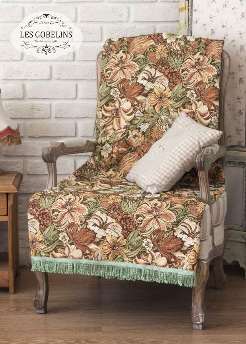 Покрывало на кресло Les Gobelins Art Nouveau Lily, 50 х 120 смSVC-300Покрывало на кресло Les Gobelins Art Nouveau Lily с ярким цветочным рисунком привлечет к себе внимание и органично впишется в интерьер комнаты. Изделие изготовлено из высококачественной ткани гобелен и оформлено бахромой и кисточками. Необычайная красота сочетается в этом покрывале с высокой прочностью и долговечностью, а свойство гобелена по-разному проявлять себя в зависимости от освещения помещения позволяет открывать все новые и новые детали, которые, как казалось, раньше скрывал гобелен.Красочное и приятное на ощупь покрывало сделает интерьер спальни, детской или гостиной уютнее и своеобразнее. Состав материала: 50% хлопок, 50% полиэстер.