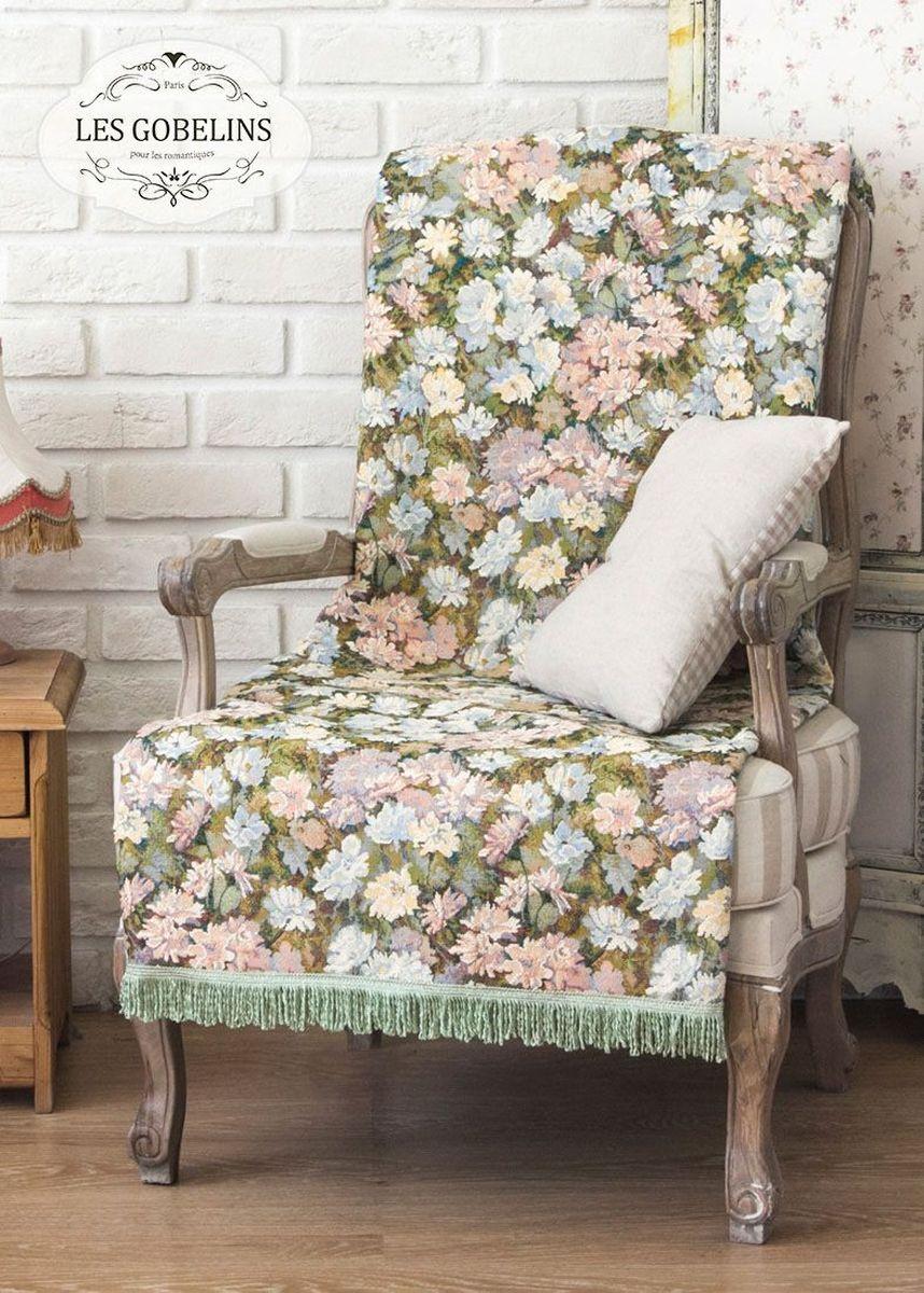 Покрывало на кресло Les Gobelins Nectar De La Fleur, 50 х 120 см391602Покрывало на кресло Les Gobelins Nectar De La Fleur с ярким цветочным рисунком привлечет к себе внимание и органично впишется в интерьер комнаты. Изделие изготовлено из высококачественной ткани гобелен и оформлено бахромой и кисточками. Необычайная красота сочетается в этом покрывале с высокой прочностью и долговечностью, а свойство гобелена по-разному проявлять себя в зависимости от освещения помещения позволяет открывать все новые и новые детали, которые, как казалось, раньше скрывал гобелен.Красочное и приятное на ощупь покрывало сделает интерьер спальни, детской или гостиной уютнее и своеобразнее. Состав материала: 50% хлопок, 50% полиэстер.