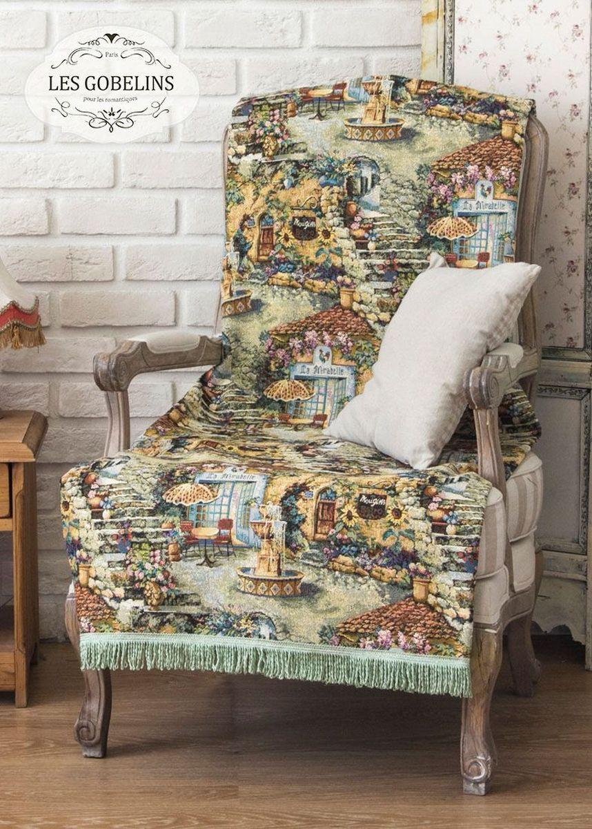 Покрывало на кресло Les Gobelins Jardin DEden, 50 х 120 смES-412Покрывало на кресло Les Gobelins Jardin DEden с ярким рисунком привлечет к себе внимание и органично впишется в интерьер комнаты. Изделие изготовлено из высококачественной ткани гобелен и оформлено бахромой и кисточками. Необычайная красота сочетается в этом покрывале с высокой прочностью и долговечностью, а свойство гобелена по-разному проявлять себя в зависимости от освещения помещения позволяет открывать все новые и новые детали, которые, как казалось, раньше скрывал гобелен.Красочное и приятное на ощупь покрывало сделает интерьер спальни, детской или гостиной уютнее и своеобразнее. Состав материала: 49% хлопок, 51% полиэстер.
