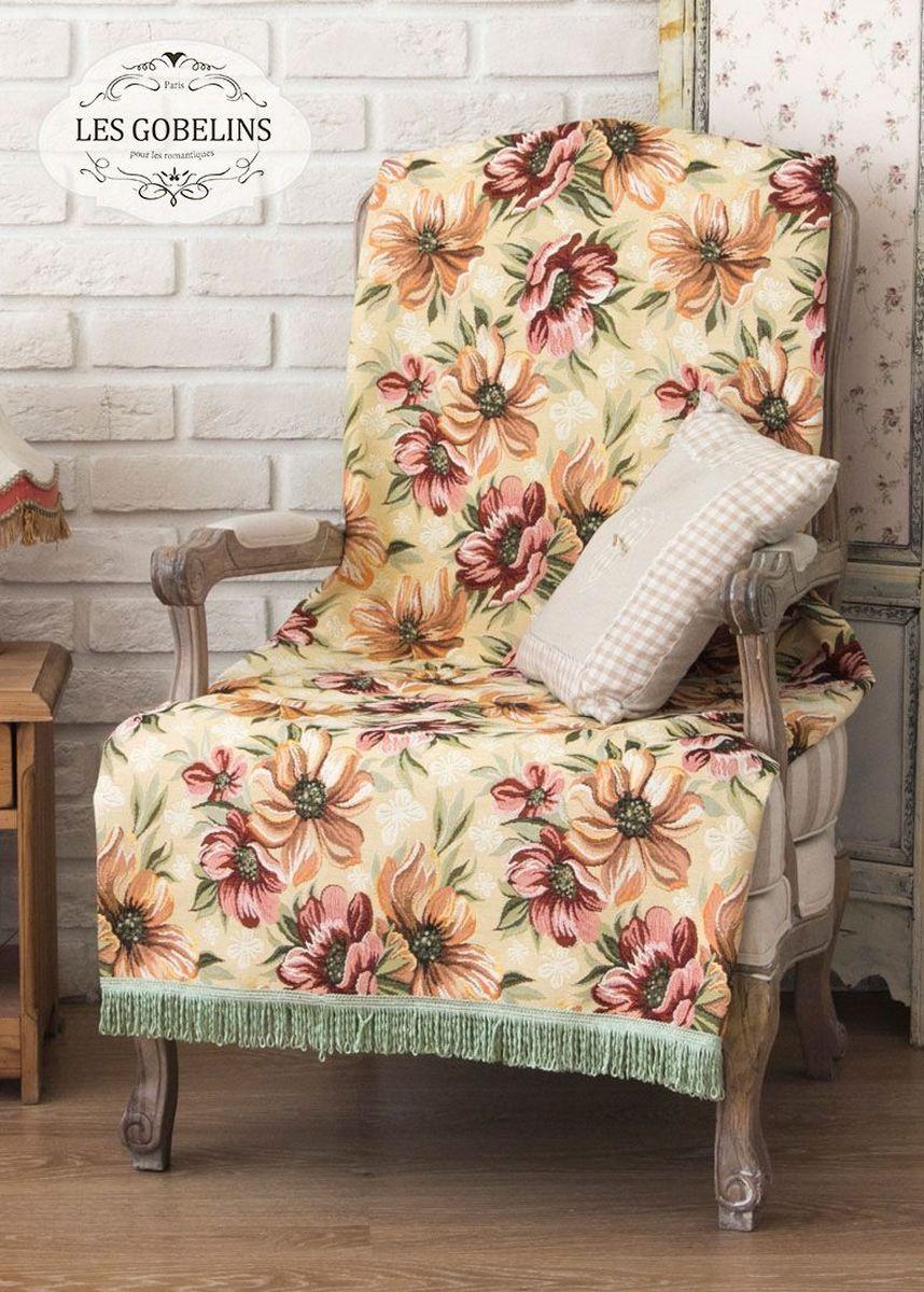 Покрывало на кресло Les Gobelins Coquelicot, 50 х 120 смlns185772Покрывало на кресло Les Gobelins Coquelicot с ярким цветочным рисунком привлечет к себе внимание и органично впишется в интерьер комнаты. Изделие изготовлено из высококачественной ткани гобелен и оформлено бахромой и кисточками. Необычайная красота сочетается в этом покрывале с высокой прочностью и долговечностью, а свойство гобелена по-разному проявлять себя в зависимости от освещения помещения позволяет открывать все новые и новые детали, которые, как казалось, раньше скрывал гобелен.Красочное и приятное на ощупь покрывало сделает интерьер спальни, детской или гостиной уютнее и своеобразнее. Состав материала: 48% хлопок, 52% полиэстер.