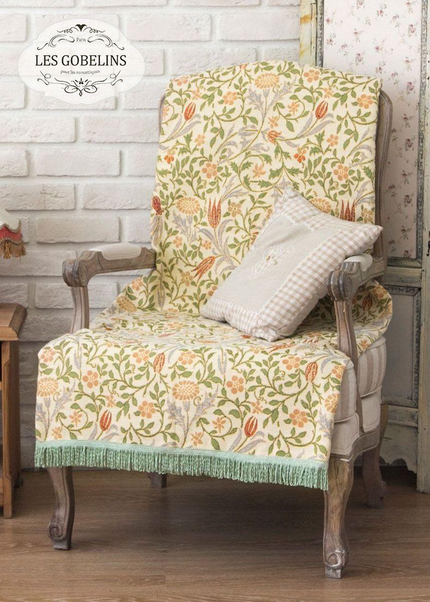 Покрывало на кресло Les Gobelins Muse, 50 х 120 смRC-100BWCПокрывало на кресло Les Gobelins Muse с ярким цветочным рисунком привлечет к себе внимание и органично впишется в интерьер комнаты. Изделие изготовлено из высококачественной ткани гобелен и оформлено бахромой и кисточками. Необычайная красота сочетается в этом покрывале с высокой прочностью и долговечностью, а свойство гобелена по-разному проявлять себя в зависимости от освещения помещения позволяет открывать все новые и новые детали, которые, как казалось, раньше скрывал гобелен.Красочное и приятное на ощупь покрывало сделает интерьер спальни, детской или гостиной уютнее и своеобразнее. Состав материала: 52% хлопок, 48% полиэстер.