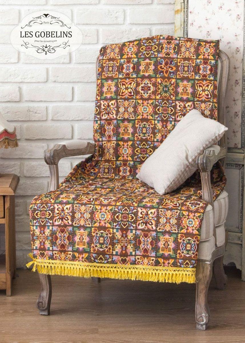 Покрывало на кресло Les Gobelins Mosaique De Fleurs, 50 х 120 см1004900000360Покрывало на кресло Les Gobelins Mosaique De Fleurs с ярким орнаментом привлечет к себе внимание и органично впишется в интерьер комнаты. Изделие изготовлено из высококачественной ткани гобелен и оформлено бахромой и кисточками. Необычайная красота сочетается в этом покрывале с высокой прочностью и долговечностью, а свойство гобелена по-разному проявлять себя в зависимости от освещения помещения позволяет открывать все новые и новые детали, которые, как казалось, раньше скрывал гобелен.Красочное и приятное на ощупь покрывало сделает интерьер спальни, детской или гостиной уютнее и своеобразнее. Состав материала: 49% хлопок, 51% полиэстер.