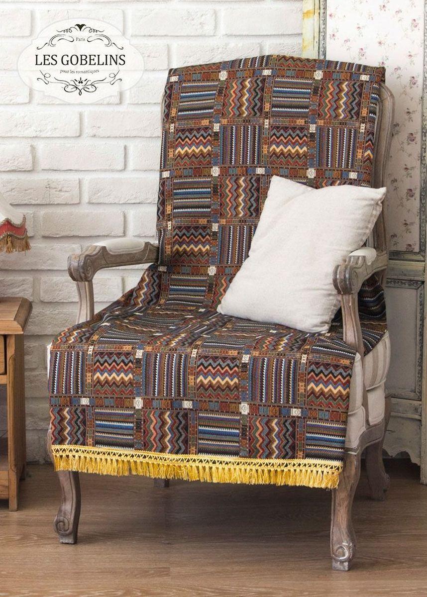 Покрывало на кресло Les Gobelins Mexique, 50 х 120 смS03301004Покрывало на кресло Les Gobelins Mexique с ярким геометрическим рисунком привлечет к себе внимание и органично впишется в интерьер комнаты. Изделие изготовлено из высококачественной ткани гобелен и оформлено бахромой и кисточками. Необычайная красота сочетается в этом покрывале с высокой прочностью и долговечностью, а свойство гобелена по-разному проявлять себя в зависимости от освещения помещения позволяет открывать все новые и новые детали, которые, как казалось, раньше скрывал гобелен.Красочное и приятное на ощупь покрывало сделает интерьер спальни, детской или гостиной уютнее и своеобразнее. Состав материала: 60% хлопок, 40% полиэстер.