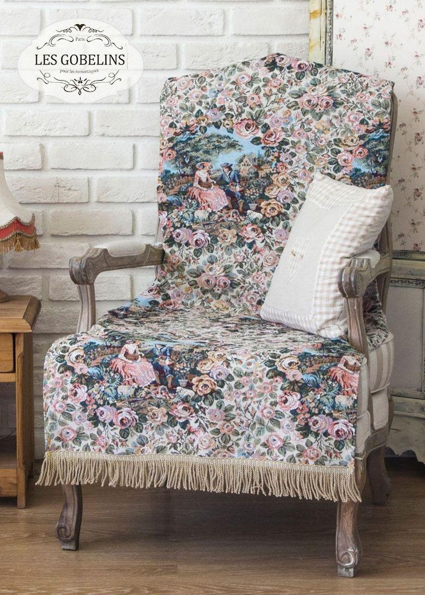 Покрывало на кресло Les Gobelins Poesie, 50 х 120 смlns186514Покрывало на кресло Les Gobelins Poesie с ярким цветочным рисунком привлечет к себе внимание и органично впишется в интерьер комнаты. Изделие изготовлено из высококачественной ткани гобелен и оформлено бахромой и кисточками. Необычайная красота сочетается в этом покрывале с высокой прочностью и долговечностью, а свойство гобелена по-разному проявлять себя в зависимости от освещения помещения позволяет открывать все новые и новые детали, которые, как казалось, раньше скрывал гобелен.Красочное и приятное на ощупь покрывало сделает интерьер спальни, детской или гостиной уютнее и своеобразнее. Состав материала: 35% хлопок, 65% полиэстер.