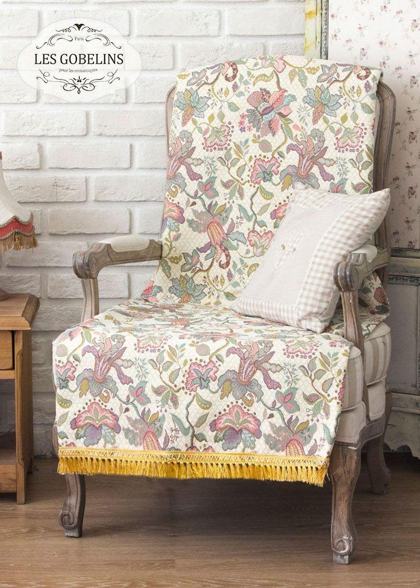 Покрывало на кресло Les Gobelins Loche, 50 х 120 см2085/CHAR004Покрывало на кресло Les Gobelins Loche с ярким орнаментом привлечет к себе внимание и органично впишется в интерьер комнаты. Изделие изготовлено из высококачественной ткани гобелен и оформлено бахромой и кисточками. Необычайная красота сочетается в этом покрывале с высокой прочностью и долговечностью, а свойство гобелена по-разному проявлять себя в зависимости от освещения помещения позволяет открывать все новые и новые детали, которые, как казалось, раньше скрывал гобелен.Красочное и приятное на ощупь покрывало сделает интерьер спальни, детской или гостиной уютнее и своеобразнее. Состав материала: 52% хлопок, 48% полиэстер.