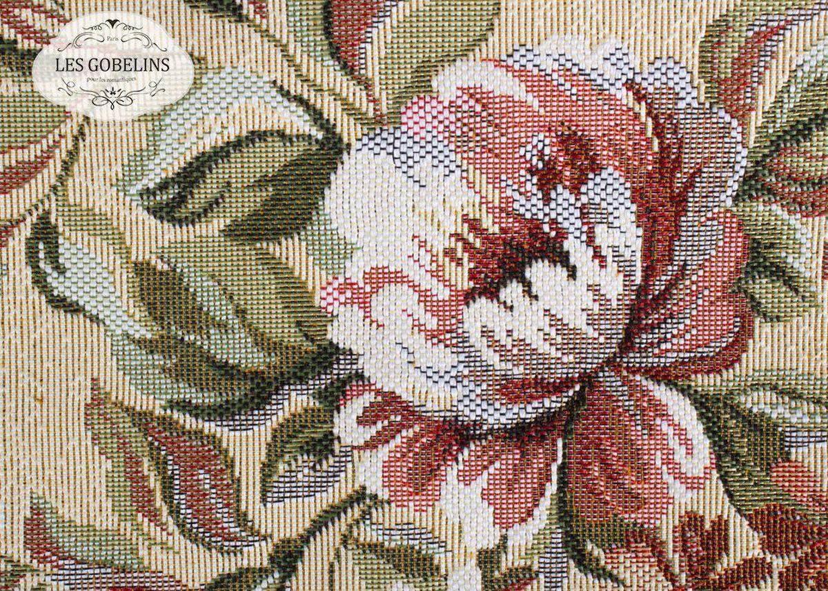 Покрывало на диван Les Gobelins Pivoines Aquarelles, 160 х 230 смlns187132Покрывало на диван Les Gobelins Pivoines Aquarelles с ярким цветочным рисунком привлечет к себе внимание и органично впишется в интерьер комнаты. Изделие изготовлено из высококачественной ткани гобелен и оформлено бахромой и кисточками. Необычайная красота сочетается в этом покрывале с высокой прочностью и долговечностью, а свойство гобелена по-разному проявлять себя в зависимости от освещения помещения позволяет открывать все новые и новые детали, которые, как казалось, раньше скрывал гобелен.Красочное и приятное на ощупь покрывало сделает интерьер спальни, детской или гостиной уютнее и своеобразнее. Состав материала: 50% хлопок, 50% полиэстер.