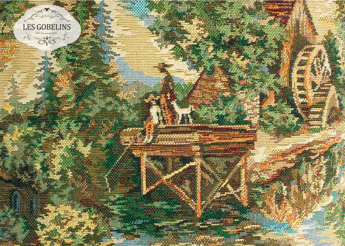 Покрывало на диван Les Gobelins Provence, 160 х 200 см1787/CHAR002Покрывало на диван Les Gobelins Provence с ярким рисунком привлечет к себе внимание и органично впишется в интерьер комнаты. Изделие изготовлено из высококачественной ткани гобелен и оформлено бахромой и кисточками. Необычайная красота сочетается в этом покрывале с высокой прочностью и долговечностью, а свойство гобелена по-разному проявлять себя в зависимости от освещения помещения позволяет открывать все новые и новые детали, которые, как казалось, раньше скрывал гобелен.Красочное и приятное на ощупь покрывало сделает интерьер спальни, детской или гостиной уютнее и своеобразнее. Состав материала: 45% хлопок, 55% полиэстер.