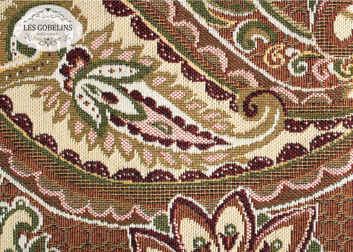 Покрывало на диван Les Gobelins Vostochnaya Skazka, 160 х 230 см1004900000360Покрывало на диван Les Gobelins Vostochnaya Skazka с ярким орнаментом привлечет к себе внимание и органично впишется в интерьер комнаты. Изделие изготовлено из высококачественной ткани гобелен и оформлено бахромой и кисточками. Необычайная красота сочетается в этом покрывале с высокой прочностью и долговечностью, а свойство гобелена по-разному проявлять себя в зависимости от освещения помещения позволяет открывать все новые и новые детали, которые, как казалось, раньше скрывал гобелен.Красочное и приятное на ощупь покрывало сделает интерьер спальни, детской или гостиной уютнее и своеобразнее. Состав материала: 52% хлопок, 48% полиэстер.