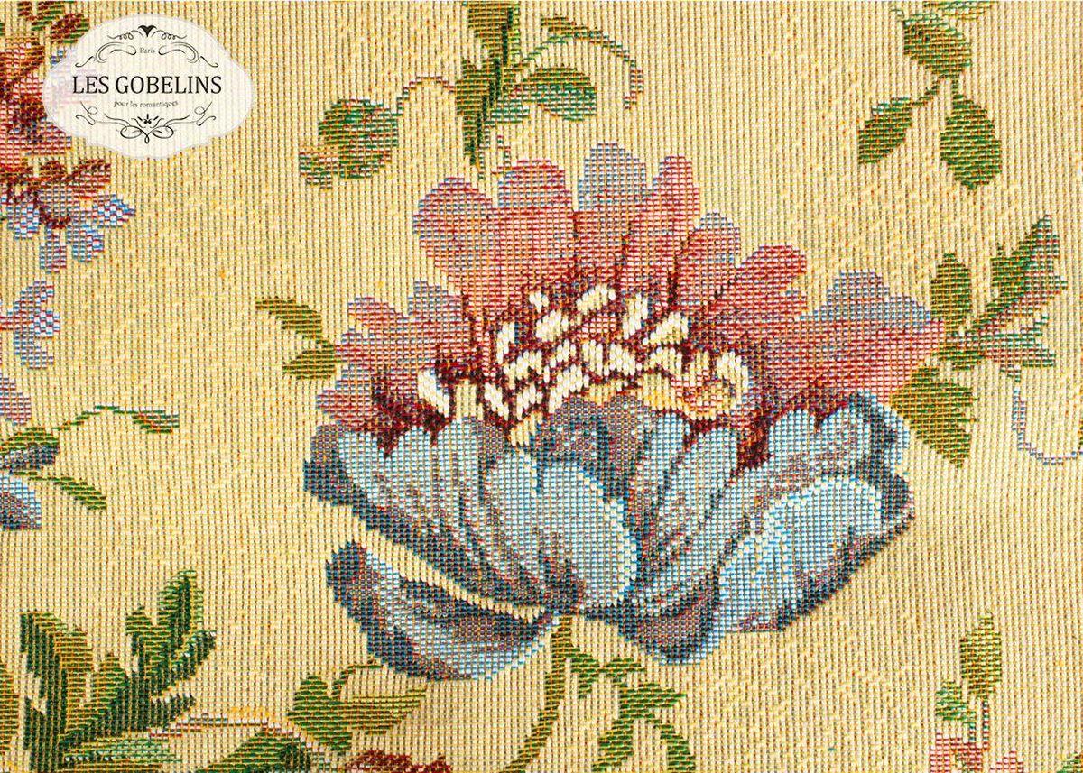 Покрывало на диван Les Gobelins Gloria, 160 х 200 смlns187868Покрывало на диван Les Gobelins Gloria с ярким цветочным рисунком привлечет к себе внимание и органично впишется в интерьер комнаты. Изделие изготовлено из высококачественной ткани гобелен и оформлено бахромой и кисточками. Необычайная красота сочетается в этом покрывале с высокой прочностью и долговечностью, а свойство гобелена по-разному проявлять себя в зависимости от освещения помещения позволяет открывать все новые и новые детали, которые, как казалось, раньше скрывал гобелен.Красочное и приятное на ощупь покрывало сделает интерьер спальни, детской или гостиной уютнее и своеобразнее. Состав материала: 48% хлопок, 52% полиэстер.
