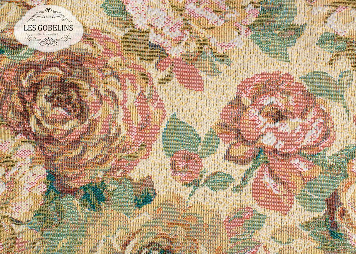Покрывало на диван Les Gobelins Fleurs Hollandais, 160 х 200 смWUB 5647 weisПокрывало на диван Les Gobelins Fleurs Hollandais с ярким цветочным рисунком привлечет к себе внимание и органично впишется в интерьер комнаты. Изделие изготовлено из высококачественной ткани гобелен и оформлено бахромой и кисточками. Необычайная красота сочетается в этом покрывале с высокой прочностью и долговечностью, а свойство гобелена по-разному проявлять себя в зависимости от освещения помещения позволяет открывать все новые и новые детали, которые, как казалось, раньше скрывал гобелен.Красочное и приятное на ощупь покрывало сделает интерьер спальни, детской или гостиной уютнее и своеобразнее. Состав материала: 52% хлопок, 48% полиэстер.
