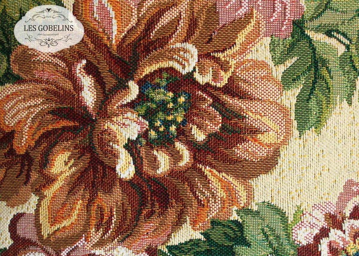 Покрывало на диван Les Gobelins Pivoines, 160 х 200 смES-412Покрывало на диван Les Gobelins Pivoines с ярким цветочным рисунком привлечет к себе внимание и органично впишется в интерьер комнаты. Изделие изготовлено из высококачественной ткани гобелен и оформлено бахромой и кисточками. Необычайная красота сочетается в этом покрывале с высокой прочностью и долговечностью, а свойство гобелена по-разному проявлять себя в зависимости от освещения помещения позволяет открывать все новые и новые детали, которые, как казалось, раньше скрывал гобелен.Красочное и приятное на ощупь покрывало сделает интерьер спальни, детской или гостиной уютнее и своеобразнее. Состав материала: 52% хлопок, 48% полиэстер.