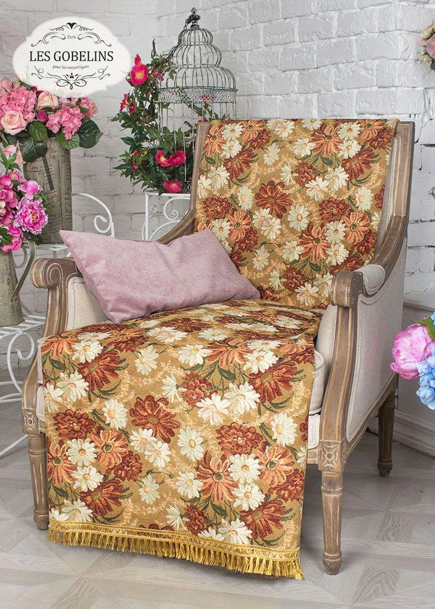 Покрывало на кресло Les Gobelins Il Aime Degouts, 50 х 120 смlns237834Покрывало на кресло Les Gobelins Il Aime Degouts с ярким цветочным рисунком привлечет к себе внимание и органично впишется в интерьер комнаты. Изделие изготовлено из высококачественной ткани гобелен и оформлено бахромой и кисточками. Необычайная красота сочетается в этом покрывале с высокой прочностью и долговечностью, а свойство гобелена по-разному проявлять себя в зависимости от освещения помещения позволяет открывать все новые и новые детали, которые, как казалось, раньше скрывал гобелен.Красочное и приятное на ощупь покрывало сделает интерьер спальни, детской или гостиной уютнее и своеобразнее. Состав материала: 50% хлопок, 50% полиэстер.