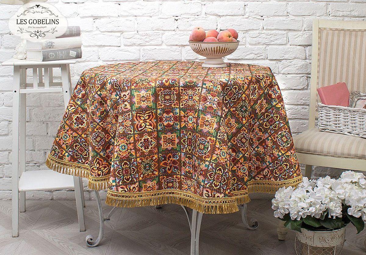 Скатерть Les Gobelins Mosaique De Fleurs, круглая, диаметр 160 см les gobelins les gobelins накидка на кресло mosaique de fleurs 100х140 см