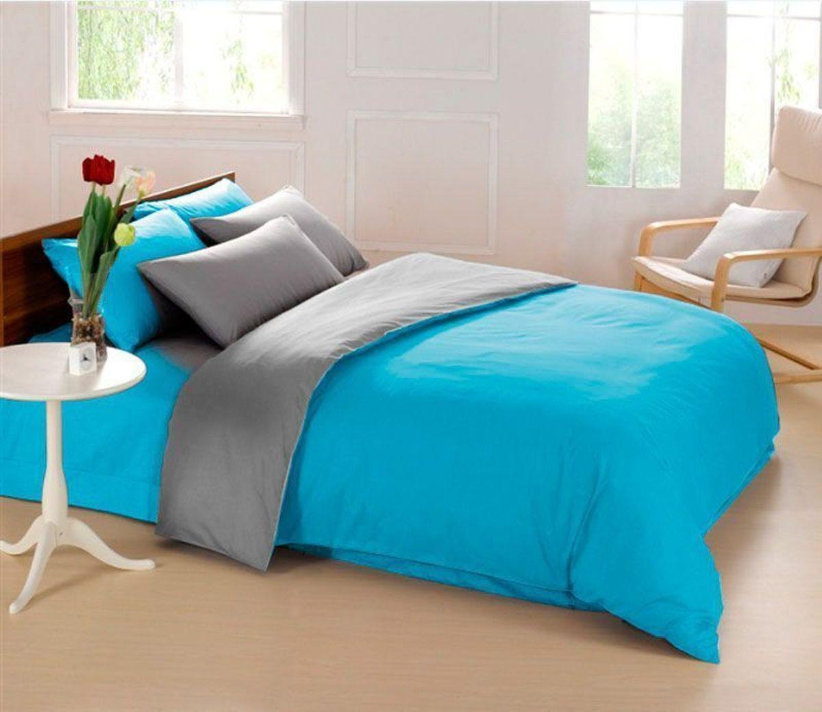 Комплект белья Sleep iX Perfection, семейный, наволочки 50х70, 70х70,цвет: голубой, серый391602Комплект постельного белья Sleep iX Perfection состоит из двух пододеяльников, простыни и четырех наволочек. Предметы комплекта выполнены из абсолютно гипоаллергенной микрофибры, неприхотливой в уходе.Благодаря такому комплекту постельного белья вы сможете создать атмосферу уюта и комфорта в вашей спальне.Известно, что цвет напрямую воздействует на психологическое и физическое состояние человека. Голубой – вызывает чувство беззаботности и умиротворения. Способствует нежности и мечтательности, понижению активности и эмоционального напряжения, вызывает ощущение прохлады.Серый – нейтральный цвет. Расслабляет, помогает успокоиться и способствует здоровому сну. Усиливает воздействие соседствующих цветов.